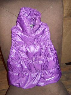 Calvin Klein Girl's Plum Puffy Vest Size 4T - Adorable/Please See My Description