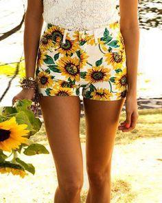 hot yellow shorts