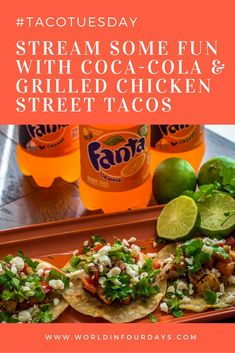 [AD] Stream Some Fun with Coca-Cola™️ and these yummy chicken street tacos. Recipe on the blog as are details on how to win free stuff from Coca-Cola This shop/post has been compensated by Collective Bias, INC. and The Coca-Cola™️ Company, all opinions are mine alone. #PlayPauseRefresh #CollectiveBias