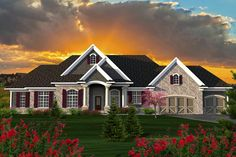 House Plan 96137 | Ranch    Plan with 2687 Sq. Ft., 3 Bedrooms, 3 Bathrooms, 3 Car Garage