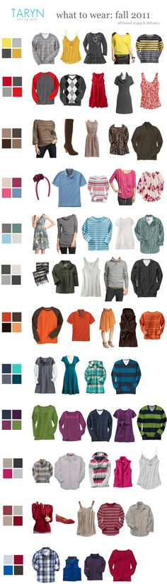 What to Wear for Fall Family Portraits: Use a color pallet, but don't go matchy-matchy. Only babies belong in light colors. Family Picture Colors, Family Picture Outfits, Fall Family Photos, Family Pics, Fall Photos, Christmas Photos, Family Pictures What To Wear, Family Posing, Big Family