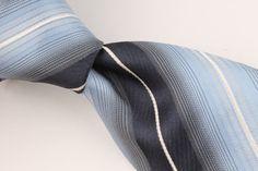 Hugo Boss Light Blue Navy Silver SKINNY Striped mens Silk Tie #HugoBoss #NeckTie