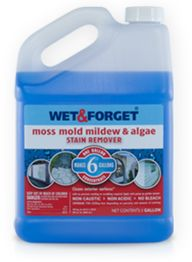 Wet and Forget is rated the best mildew stain remover as it removes mildew, mold, moss, and algae without scrubbing or bleach. Mildew Stains, Mildew Remover, Mold And Mildew, Cleaning Mold, Cleaning Hacks, Cleaning Products, Cleaning Solutions, Cleaning Grease, Cleaning Routines