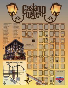 Gaslamp District Map Americas Finest City San Diego Pinterest