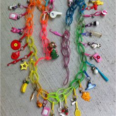 Charms and jelly bracelets from the 80's