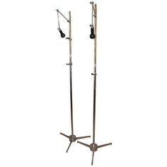 Pair of Marked Late Nickel Plated Arredoluce Illuminated Easels   From a unique collection of antique and modern floor lamps  at http://www.1stdibs.com/furniture/lighting/floor-lamps/