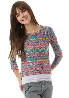 Printed High-Low Pullover Tribal - View All Tops - Tops - Clothing - dELiA*s