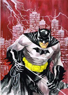 Batman - Francis Manapul, in Byron Hamm's Batman & Family Comic Art Gallery Room Nightwing, Batgirl, Catwoman, I Am Batman, Batman Art, Comic Art, Comic Books, Batman Wallpaper, Batman Family