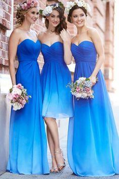 Turquoise Ocean Blue Beach Bridesmaid Dresses