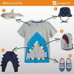 Un combinación para niños que les encantan los tiburones. ¡Dientes, aletas y un poco de miedo no faltan en este #BasicLook! #fashiongram #fhashionblogger #fashionpost #fashionista #teens #boys #sport #sport #outfit #instakids #fashionkids #trendykiddies #kids #kidsfashion #cutekids #kidsstyle #kidswear #trend #style #stylish #clothes #baby #little #textil #lovely #littleboys #child #cute