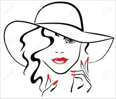 Image from http://previews.123rf.com/images/petefrone/petefrone1401/petefrone140100009/24805348-woman-with-red-lips-and-red-nails-wearing-hat-Stock-Vector-hat-manicure-silhouette.jpg.