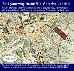 Find your way round Mid-Victorian London - Map CD - S&N Genealogy Supplies