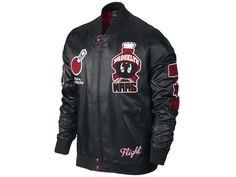 Jordan Marvin Bomber Jacket Black Gym Red Modelcode 696133-010 Web: www-designer-second-hand-shop-com