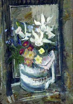 Margaret Thomas – Mug of Spring; Oil on canvas, 38.5x29.8 cm | Williamson Art Gallery & Museum
