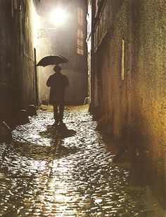 Noir November Prague by J.Doležal, Old Town, Rain, Stranger Last but not least See You in December Fine Art Photo, Photo Art, Prague Old Town, Away We Go, Prague Czech Republic, Old Photography, Contemporary Photography, Night City, Great View