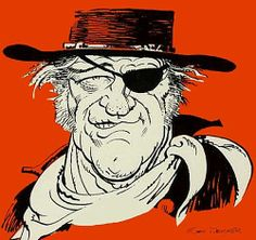 John Wayne --Character and Creature Design Notes: Mort Drucker Comic Book Artists, Comic Artist, Caricature Drawing, Celebrity Caricatures, John Wayne, Cultura Pop, Creature Design, Feature Film, Illustrators