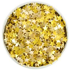 Gold Star Edible Glitter from Layer Cake Shop!  Sprinkle on cakes, cupcakes, cakepops, cookies, whipped topping, even jello!