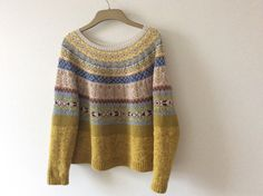 Ravelry: brendadada's Lovage From The Top - Pulli Stricken Punto Fair Isle, Tejido Fair Isle, Fair Isle Knitting, Hand Knitting, Knitting Designs, Knitting Projects, Ravelry, Icelandic Sweaters, How To Purl Knit