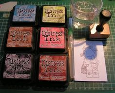 Tutorial stempels inkleuren Distress Ink