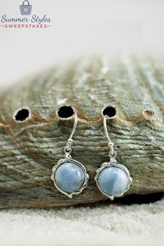 These lovely Larimar earrings are bright and blue like the sunny summer skies! [Promotional Pin]