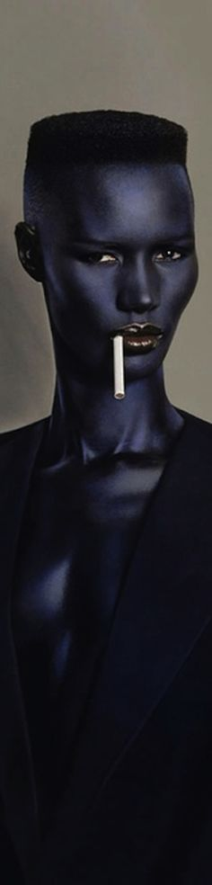 "GraceJones (May 19, 1948 - ) for the cover of her fifth studio album 'Night Clubbing"", 1981. age 33. #actor    http://pinterest.com/ookiinamomo/portraits/"