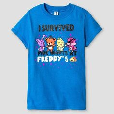 Girls' Friday Night at Freddy's Short Sleeve Tee - Turquoise
