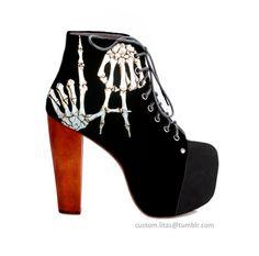 #heels #skeleton #suede