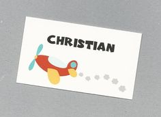 Set of 10 Custom Airplane Calling Cards  Gift by CardsByKooper