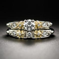 Van Craeynest Engagement and Wedding Band Set - 10-1-6902 - Lang Antiques