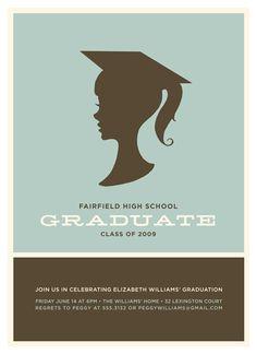 silhouette graduate invitation graduation