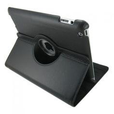 iPad cover med 360 graders roterende case - Sort