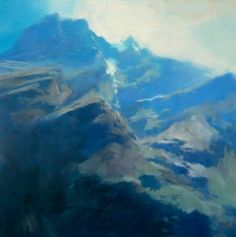 Jungfrau, early morning 2010, oil on canvas 120x120cm