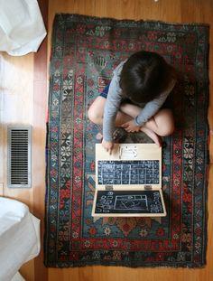 i-wood chalkboard laptop via seejaneblog