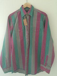 New to CafeMotique on Etsy: Vintage Wrangler Western Style Cowboy Shirt - Size Medium (21.00 USD) #MountainMoto #ColoradoSprings #VintageMoto #CafeRacer