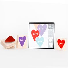 Make your own hand-stamped valentines with this set. http://go.brit.co/1Ch2ZHH
