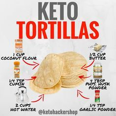 KETO TORTILLAS Here is a delicious keto recipe by @ruledme . CALORIES/MACROS Makes 10 tortillas, the macros per tortilla breaks down like…