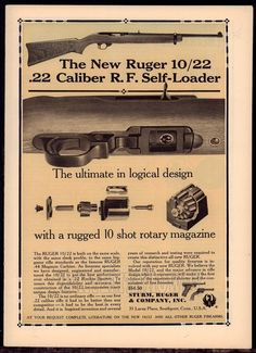 1964 RUGER 10/22 .22 Self-Load Rimfire Sporter Rifle AD #Ruger