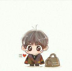love this so muchhhh Taehyung Fanart, Bts Taehyung, Bts Bangtan Boy, Bts Chibi, Anime Chibi, Kawaii Chibi, Kawaii Anime, K Pop, Fanart Kpop