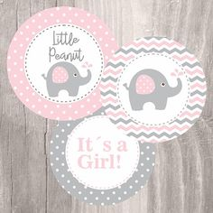 Pink Elephant Baby Shower Printable Centerpieces Pink and