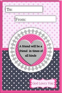 Christian Valentines Card Printable by TrendyDesignerPrints