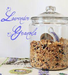 Oh la la! A little taste of Provence for breakfast...lavendar granola!