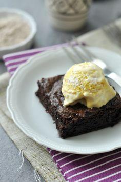 Gluténmentes brownie fagyival, nem csak gluténérzékenyeknek.