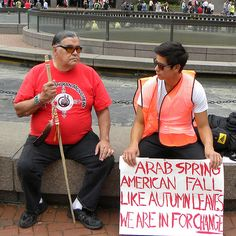 American Indian Movement at OccupyMN protest in Minneapolis: Day 1