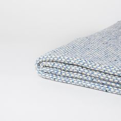 Sky Blue Recycled Wool Blanket | Modern wool blankets and throws