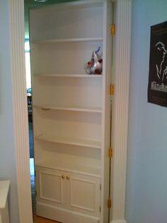 22 ideas hidden door bookcase secret passage storage for 2019 Hidden Spaces, Hidden Rooms, Attic Renovation, Attic Remodel, Room Doors, Closet Doors, Hallway Closet, Basement Closet, Hidden Door Bookcase