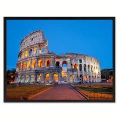 Rome Italy Landscape Photo Canvas Print Pictures Frames Home Décor Wall Art Gifts #italylandscape