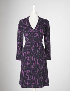 Jersey Wrap Dress 95% viscose 5% elastane  Machine washable  Fitted shape  Full length sleeves  Length finishes at knee  Drapey jersey with stretch  Imported