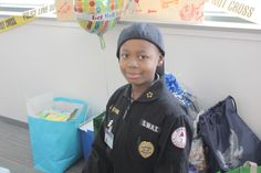 DPD Chief for a Day. Jan 31 Chief James E. Craig and Jayvon Felton