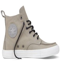 a45103682f92 Converse All Star Chuck Taylor Mens Trainers High Cow leather stone gray  cheap online sale