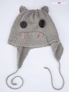 5802c5e18cc Ewe Ewe Yarns Hippo Hat PDF Knitting Pattern Kids Knitting Patterns